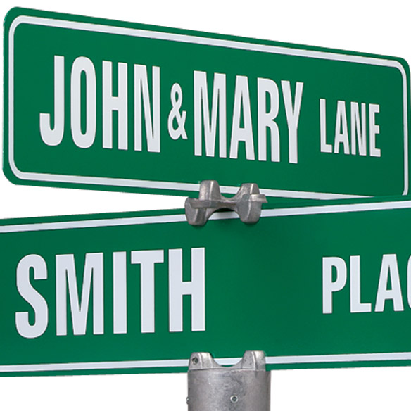 Personalized Two Sided Street Sign - View 2