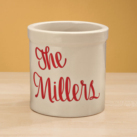 Personalized Stoneware Crock - View 2