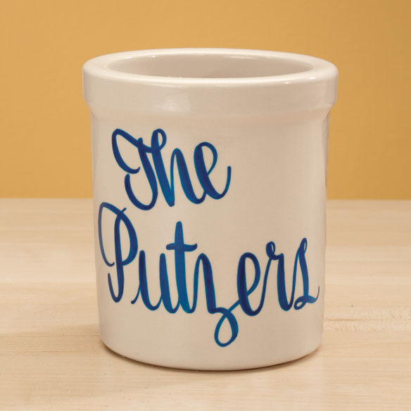 Personalized Stoneware Crock - View 3