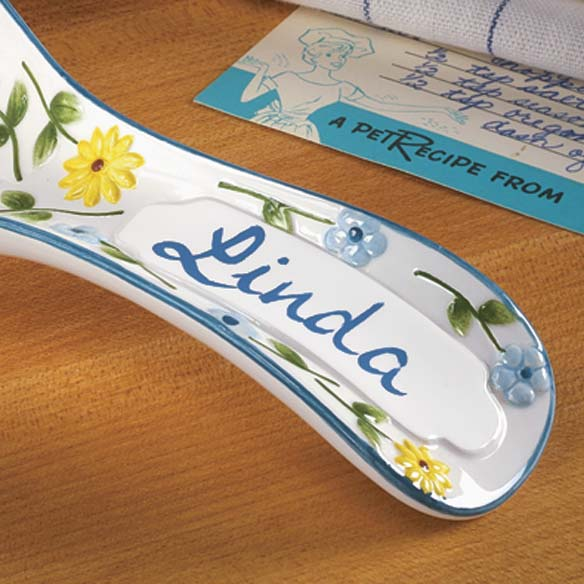 Personalized Flower Spoon Rest - View 2