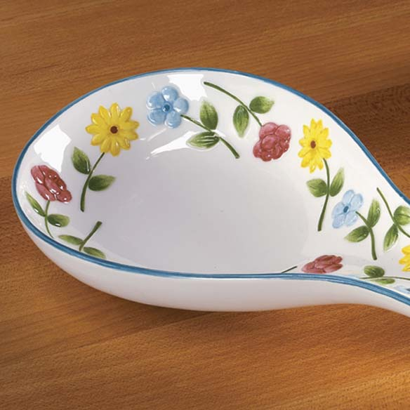 Personalized Flower Spoon Rest - View 3