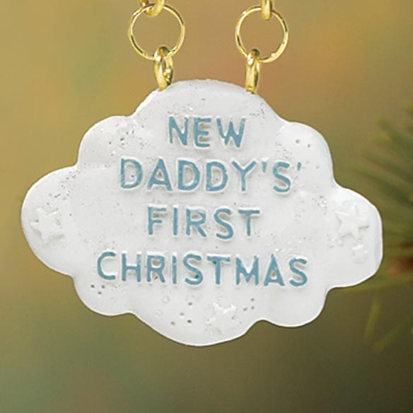 Dad First Christmas Ornament - View 3
