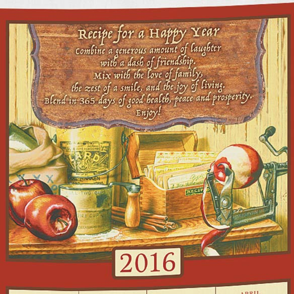 Personalized Recipe For Happiness Calendar Towel - View 2