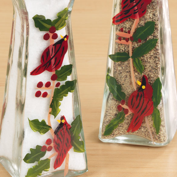 Cardinal Salt And Pepper Shakers - View 2