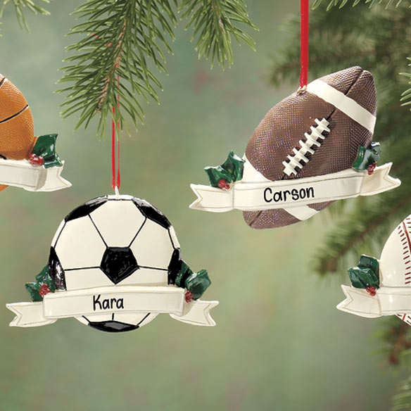 Personalized Sports Ornament - View 3
