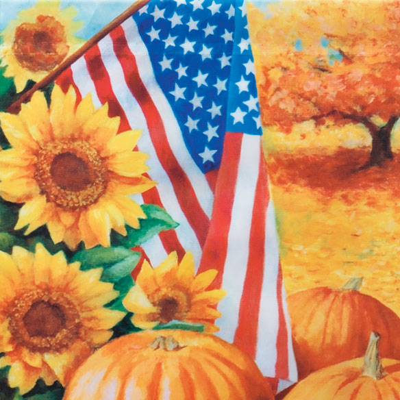 American Fall Garden Flag - View 2