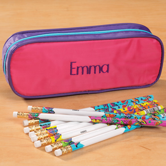Personalized Butterfly Pencil Case Set - View 2