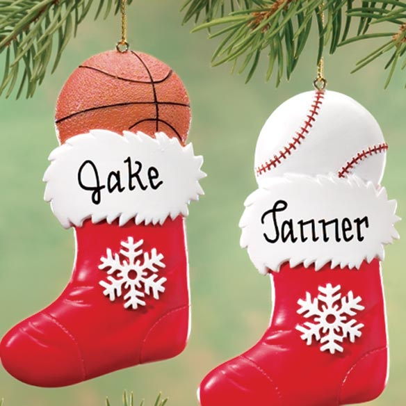 Personalized Sports Stocking Ornament - View 2