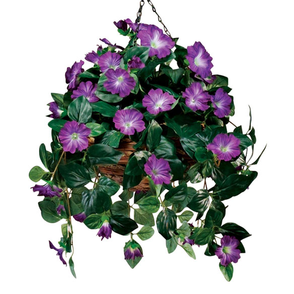 Artificial Petunia Hanging Bush - View 4