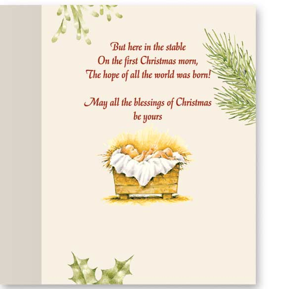Christmas Certificate Non-Personalized Card Set of 20 - View 4