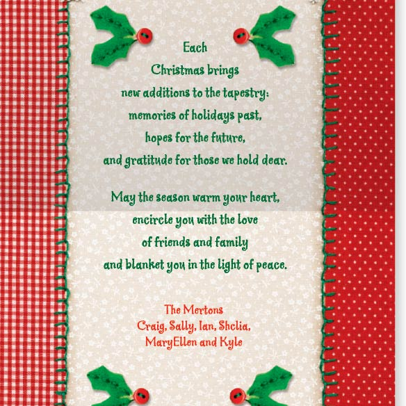 Christmas Tapestry Card Set - View 3