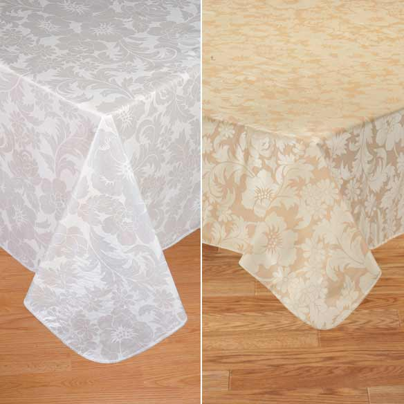 Bordeaux Floral Vinyl Table Cover - View 3