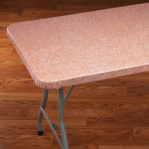 Granite Elasticized Banquet Table Cover - View 4