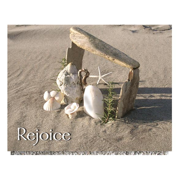 Seashore Nativity Unpersonalized Card Set of 20 - View 2