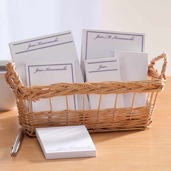 Personalized Classic Basketful of Notepads - View 2
