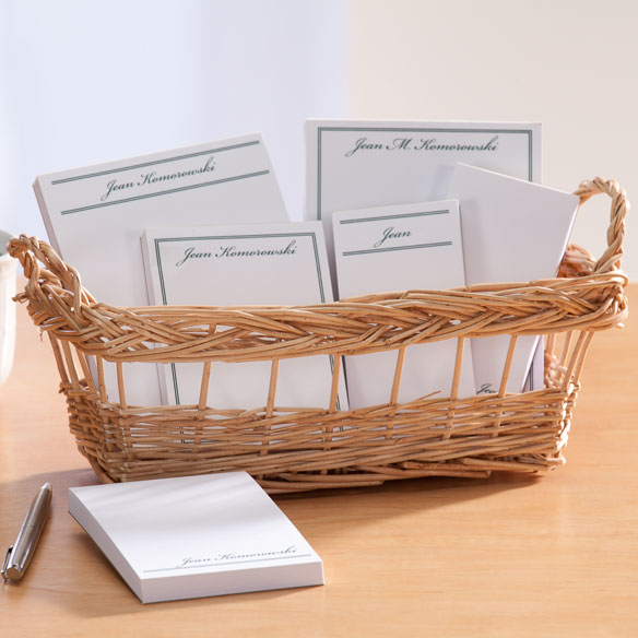Personalized Classic Basketful of Notepads - View 3