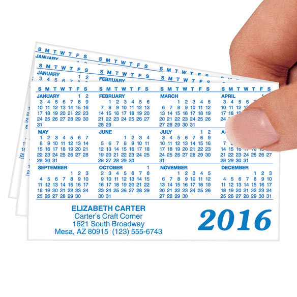 Glossy Personalized Plastic Calendars - Set of 50