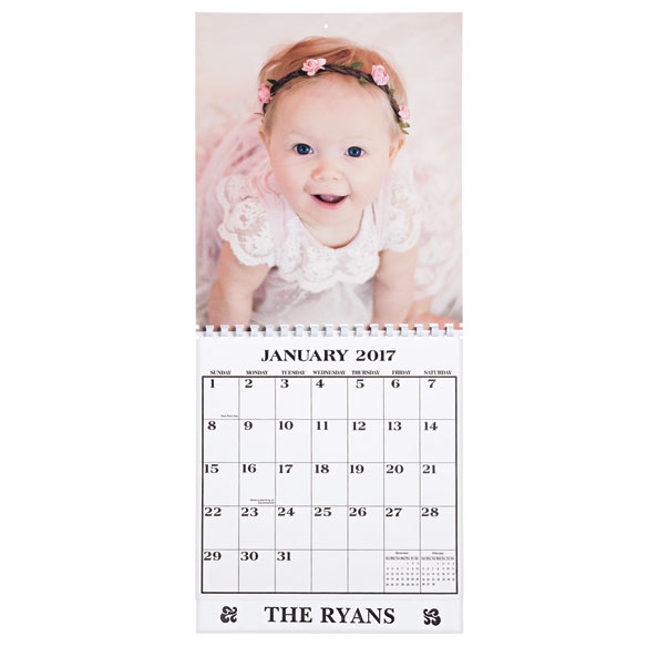 Single Copy Personalized Photo Calendar - View 1