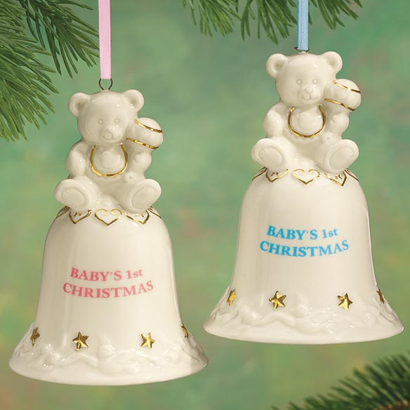Personalized Baby's First Christmas Bell Ornament - View 1