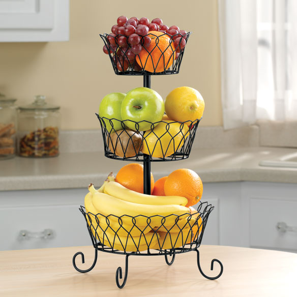 Black Tiered Fruit Basket