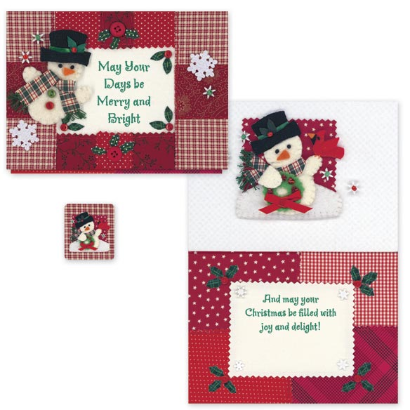 Calico Snowman Card Set - View 1