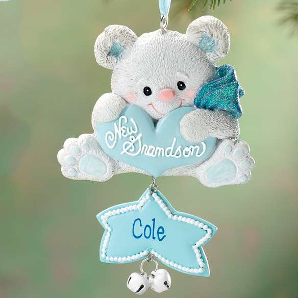 Personalized New Grandson Ornament