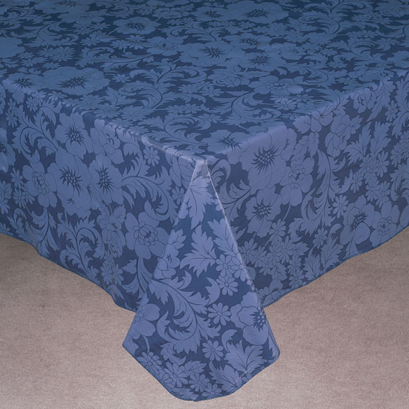 Bordeaux Floral Vinyl Table Cover - View 1