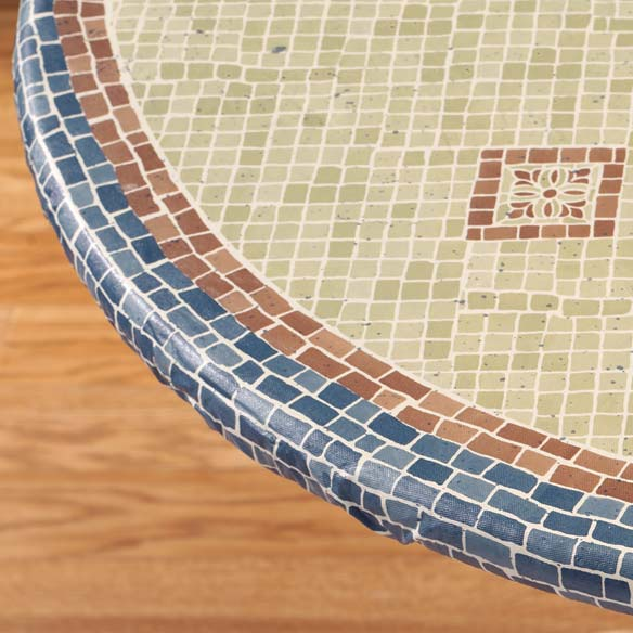 Fiorenza Mosaic Elasticized Table Cover - View 1
