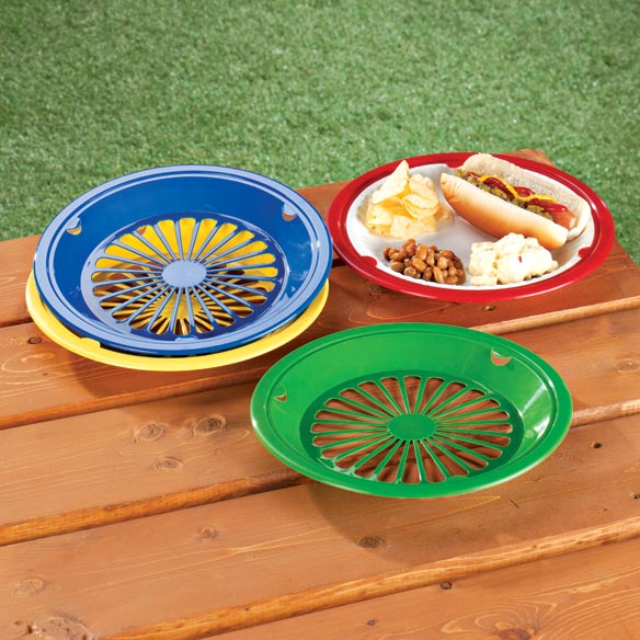 Plastic Paper Plate Holders - Set Of 8