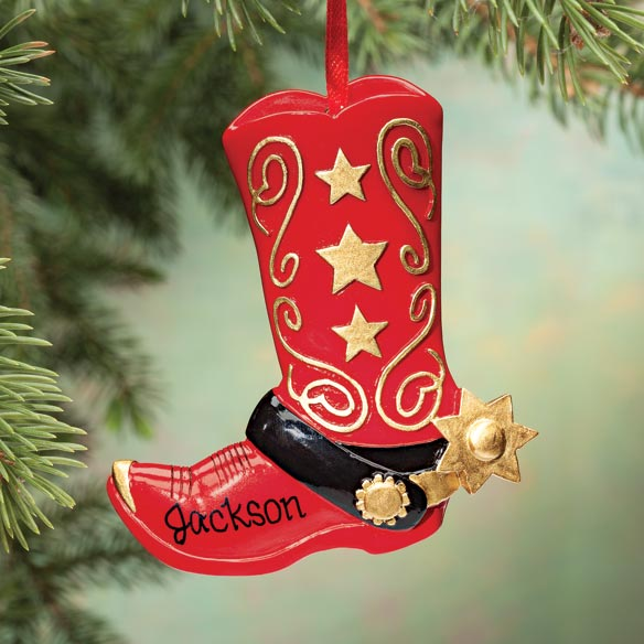 Personalized Cowboy Boot Ornament