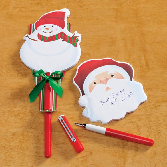 Christmas Notepad And Pen Set