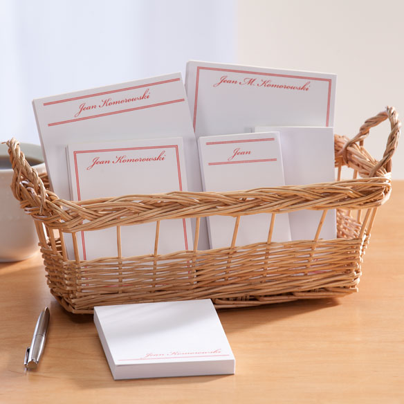 Personalized Classic Basketful of Notepads