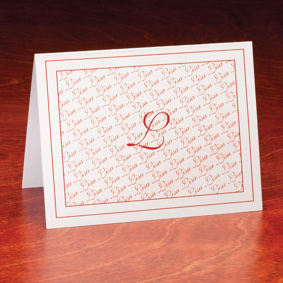 Personalized Monogrammed Note Cards - Set Of 25