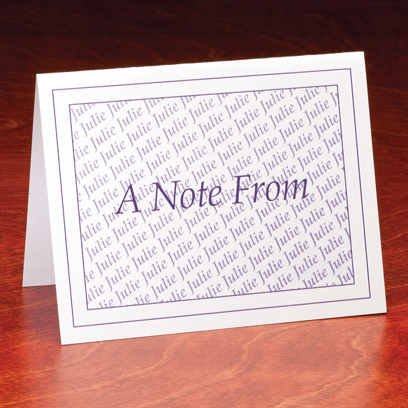 "Personalized ""A Note From"" Cards - Set Of 25"