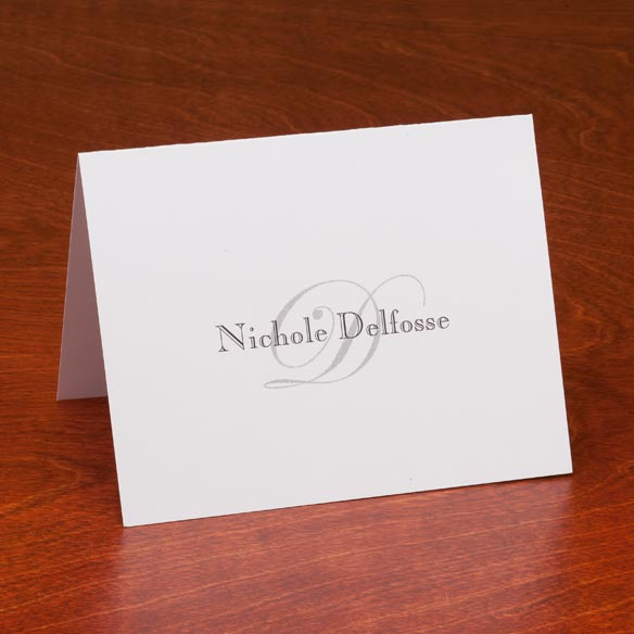 Personalized Script Note Cards - Set Of 25