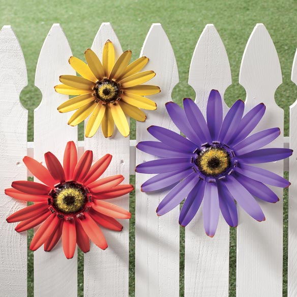 Outdoor Metal Coneflower Art by Maple Lane Creations™