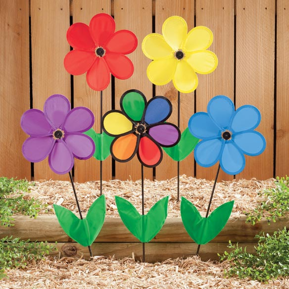 Colorful Flower Wind Spinners