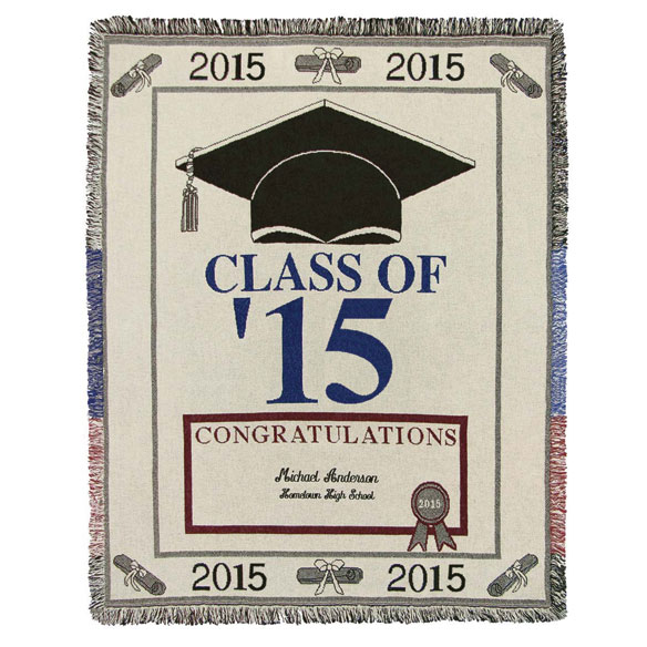 Personalized 2015 Graduation Afghan